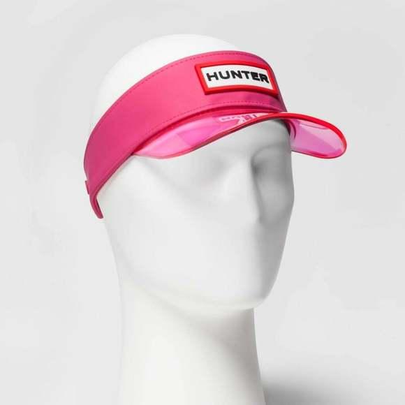 Hunter for Target Accessories - Hunter for Target Visor Rubber Hat Logo Pink NWT